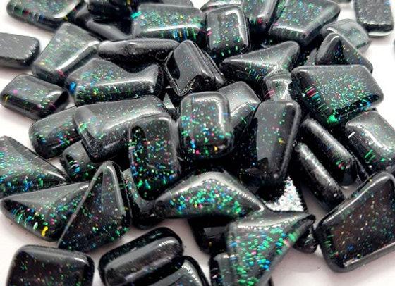 Glass Glitter Melt Black Opal- 100grams