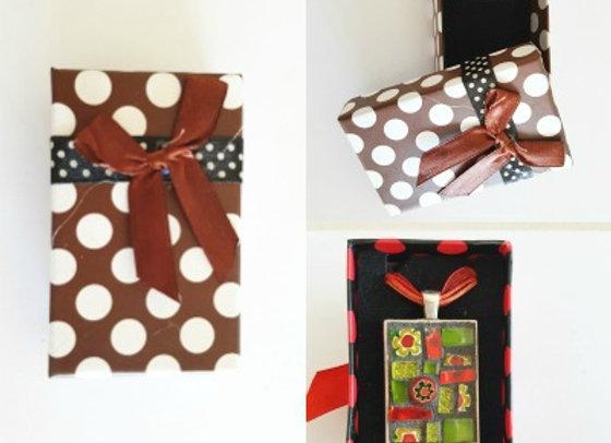 Gift Box x 1 - Chocolate Polka Dot