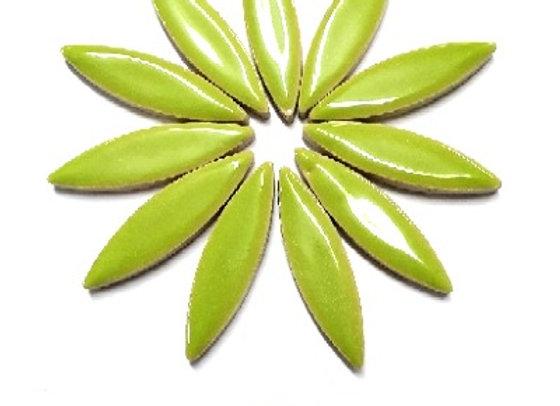 *New - Large Ceramic Petals - Lime x12