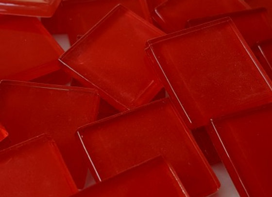 Crystal Tiles - (23x23mm) - Watermelon Red