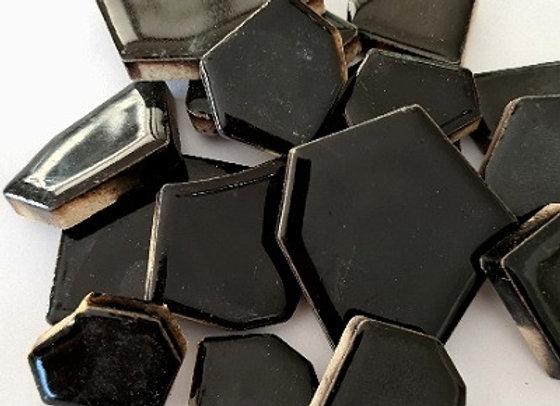 Black Ceramic Pieces - 200 grams