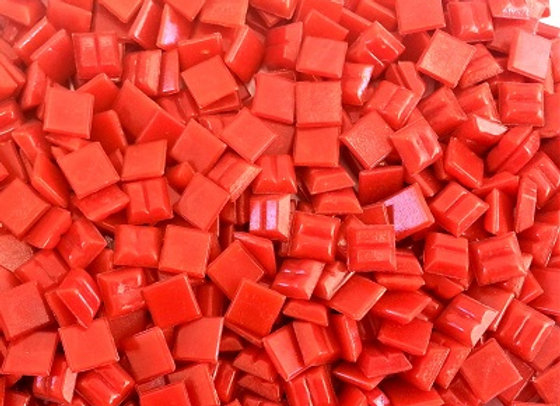 Vitreous Tiles (10x10mm) Red