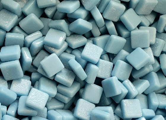 Glass Opaque 10x10mm - Baby Blue
