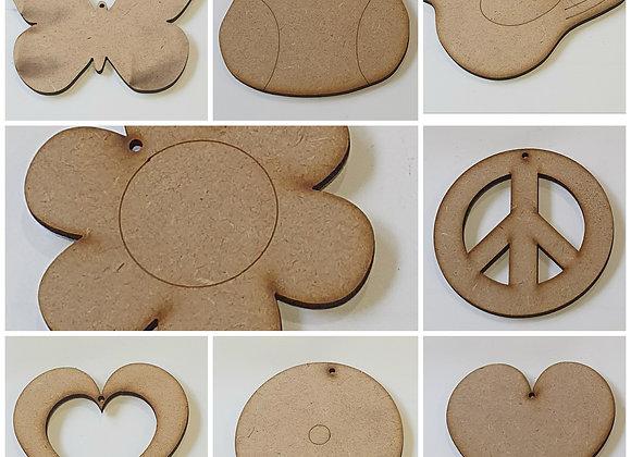 Mini Cutouts - Choose your Shape x 8pc