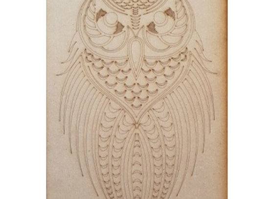 Engraved Wise Owl
