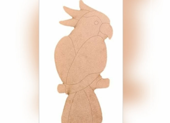Large Polly Cockatoo Board - 580x255mm