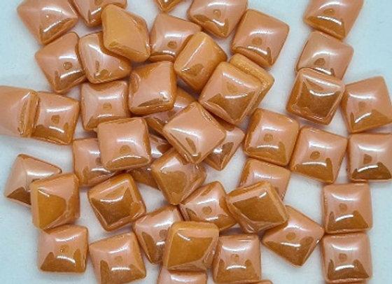 Glass Pearlies 10x10mm -  Orange
