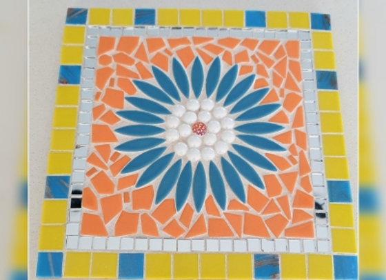 Mosaic Kit - Flower Plaque