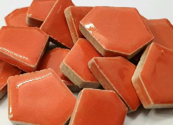 Orange Ceramic Pieces - 200 grams