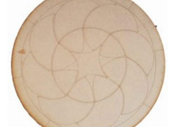 Engraved Starburst Mandala 450x450x9mm