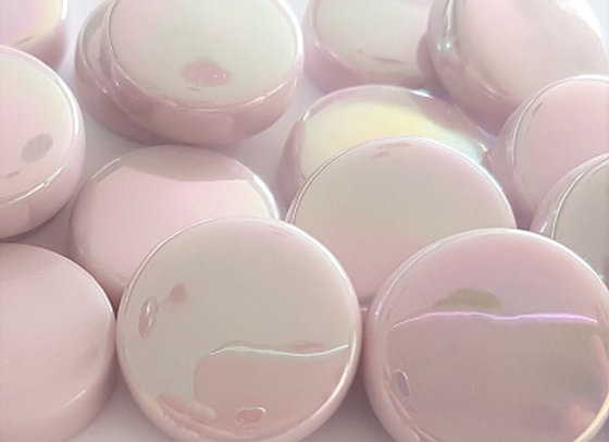 Glass Smarties Iridised  - 20 mm Light Pink
