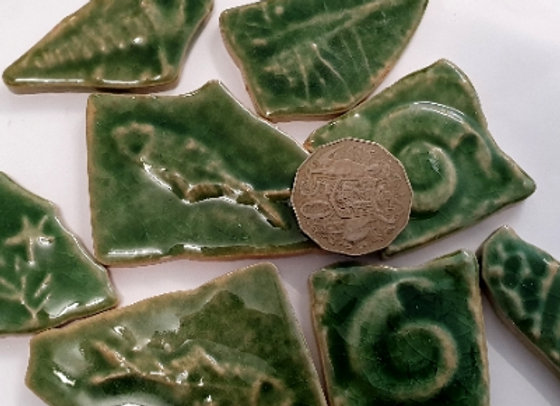 Crazy Pave Larger Ceramic Pieces Forest- 200 grams