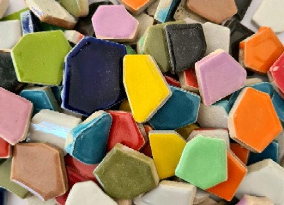 Mixed Ceramic Pieces - 200 grams