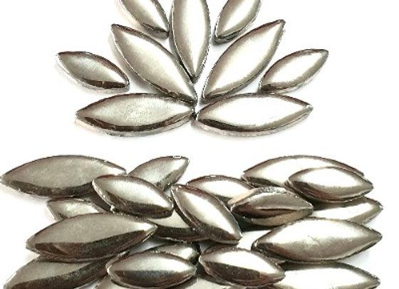 *New - Ceramic Petals - Silver Metallic  x 30