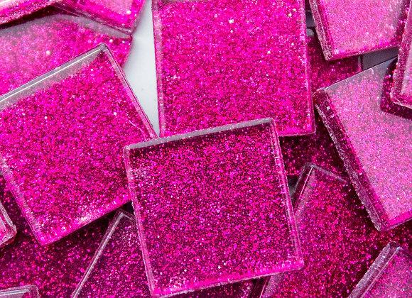 Glitter Tiles (23x23mm) Hot Pink