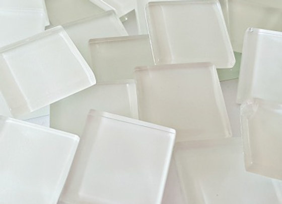 Crystal Tiles - (23x23mm) - White