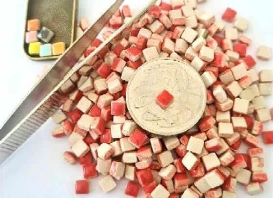 Red - Micro Mini Ceramic Tiles