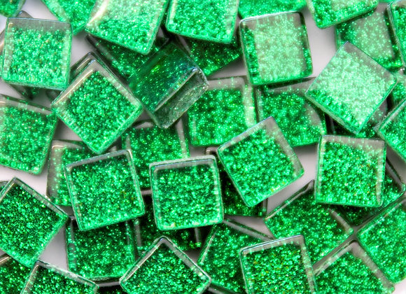 Glitter Tiles (10x10mm) Dark Green