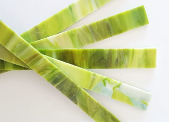 Stained Glass Sticks - Lime Swirl