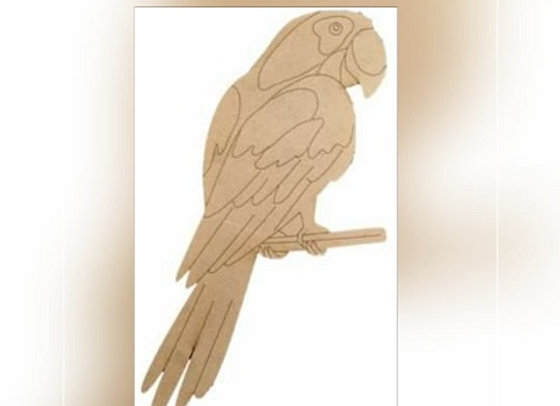 Large Percy Parrot Board - 580x265mm