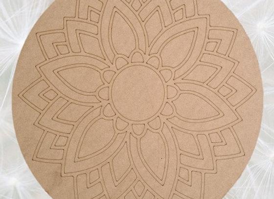 Engraved Daisy Mandala 450x450x9mm