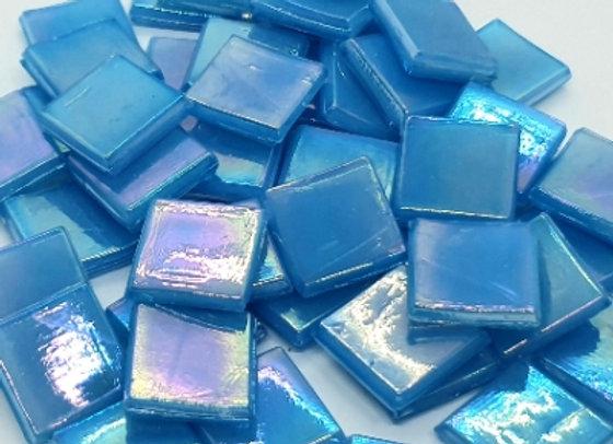 Iridised Tiles - 15x15mm - Powder Blue