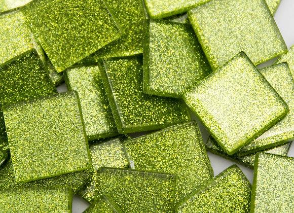 Glitter Tiles (23x23mm) Lime