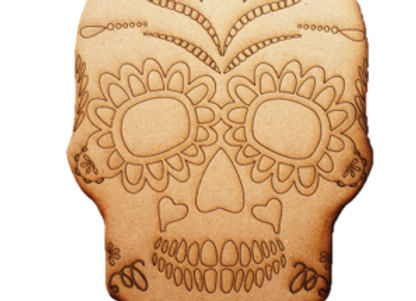 Engraved Sugar Skull - 350x240x6mm