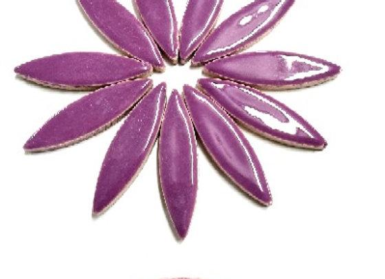 *New - Large Ceramic Petals - Purple x12