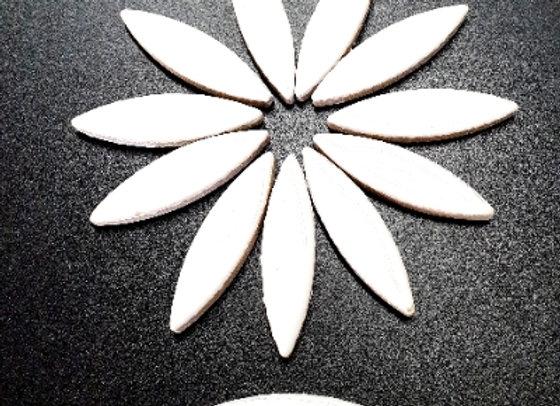 *New - Large Ceramic Petals - White x12