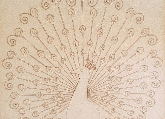 Engraved Peacock