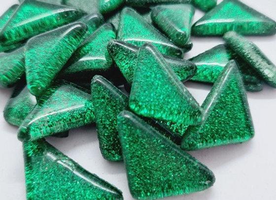 Glass Glitter Melts Dark Green- 100grams