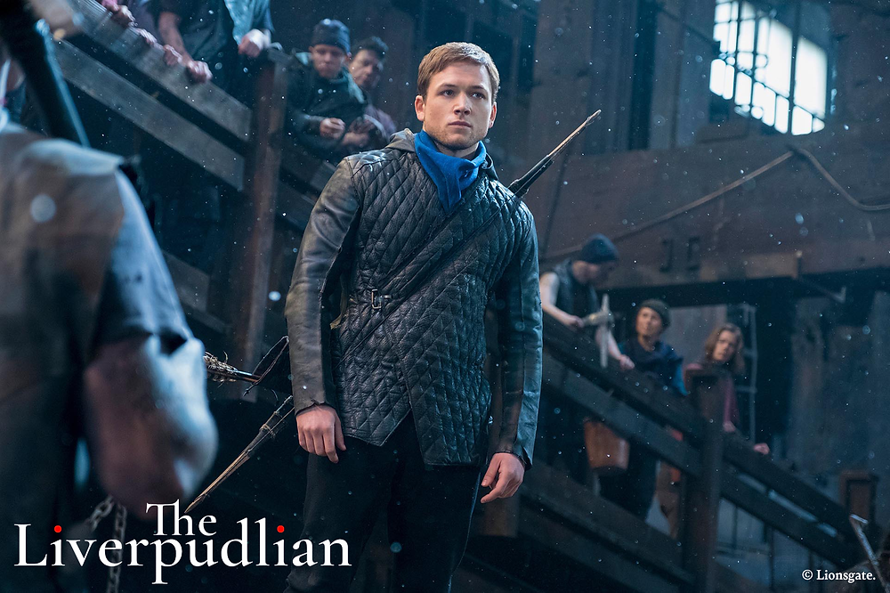 Taron Egerton as Robin Hood in the 2018 reimagining of the classic tale (Credit: Lionsgate).