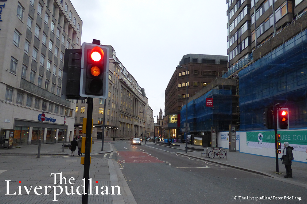 The street level view of Tithebarn Street outside Silkhouse Court (Credit: The Liverpudlian/Peter Eric Lang).