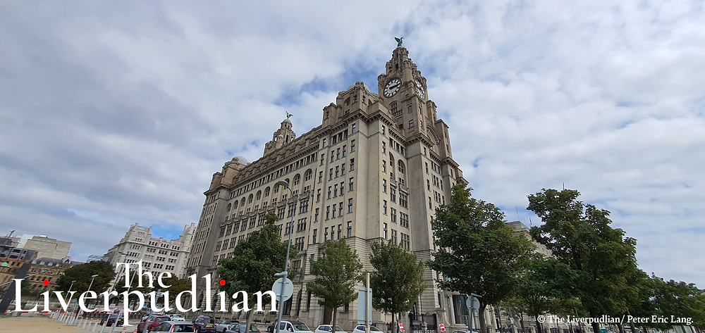 The Royal Liver Building standing proudly in The Waterfront District, or The Pier Head, of Liverpool City Centre (Credit: The Liverpudlian/Peter Eric Lang).
