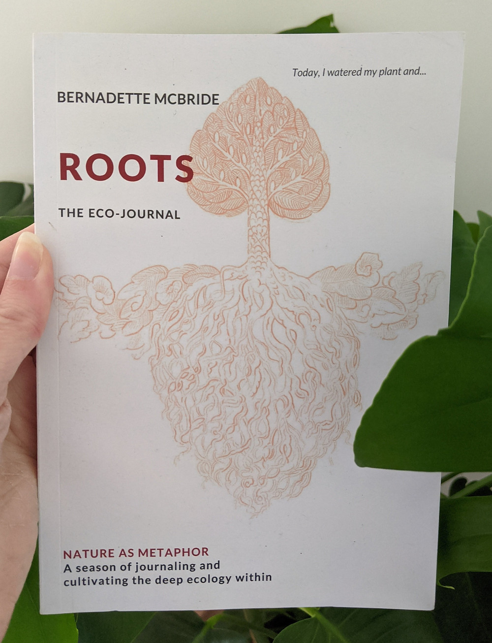Bernadette McBride's book, Roots: The Echo-Journal, published by Green Guild of the University of Liverpool (Credit: Image Supplied by Bernadette McBride).