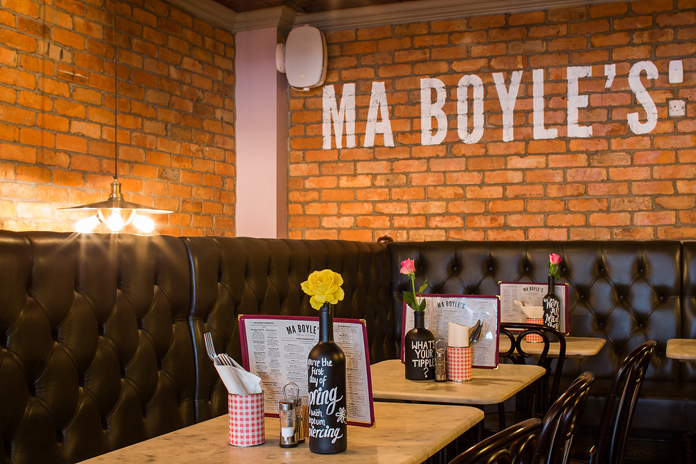 Indoor seating at Ma Boyle's that intends to open on the 17th May under Step 3 of the Roadmap out of Lockdown (Credit: Image Supplied by Ma Boyle's).