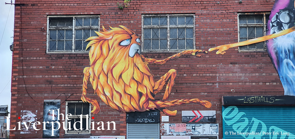 Artwork by 'Lost Hills' in Liverpool City Centre's The Baltic Triangle creative district (Credit: The Liverpudlian/Peter Eric Lang).