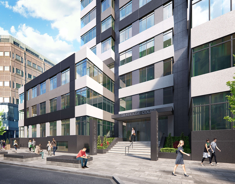 A street view outside the entrance of Silkhouse Court of how the redevelopment is expected to look upon completion (Credit: The Liverpudlian/Peter Eric Lang).