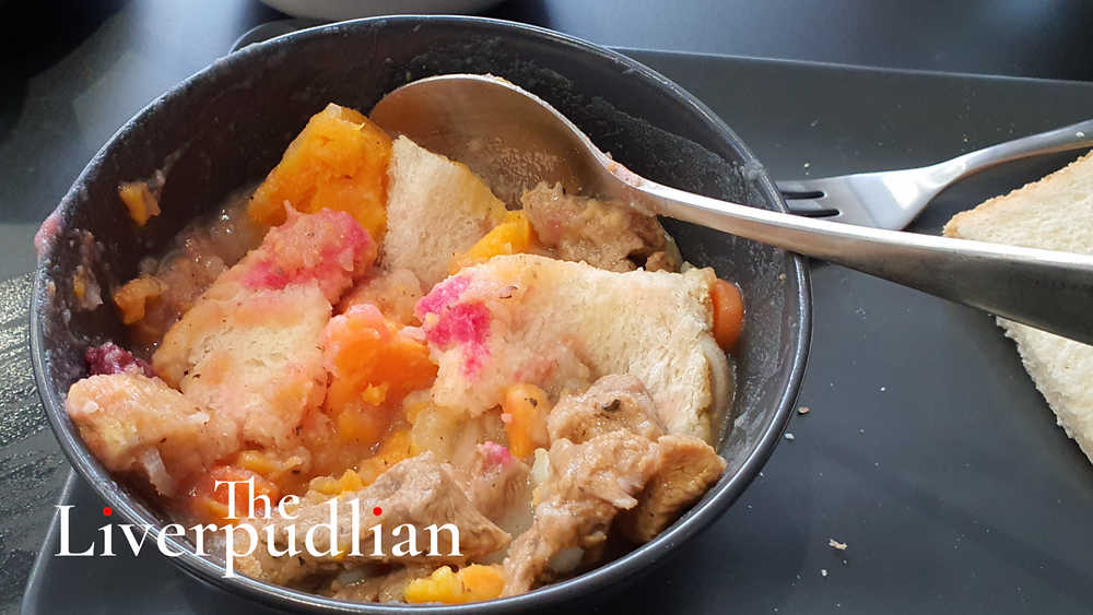A colourful bowl of Scouse with beetroot and crusty bread that can be found across the city region, with this particular dish being from Borough Road in Birkenhead (Credit: The Liverpudlian/Peter Eric Lang).