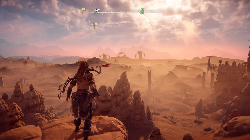 The massive open world of Horizon: Zero Dawn can easily soak up hundrens of hours of playtime (Credit: Sony Interactive Entertainment).