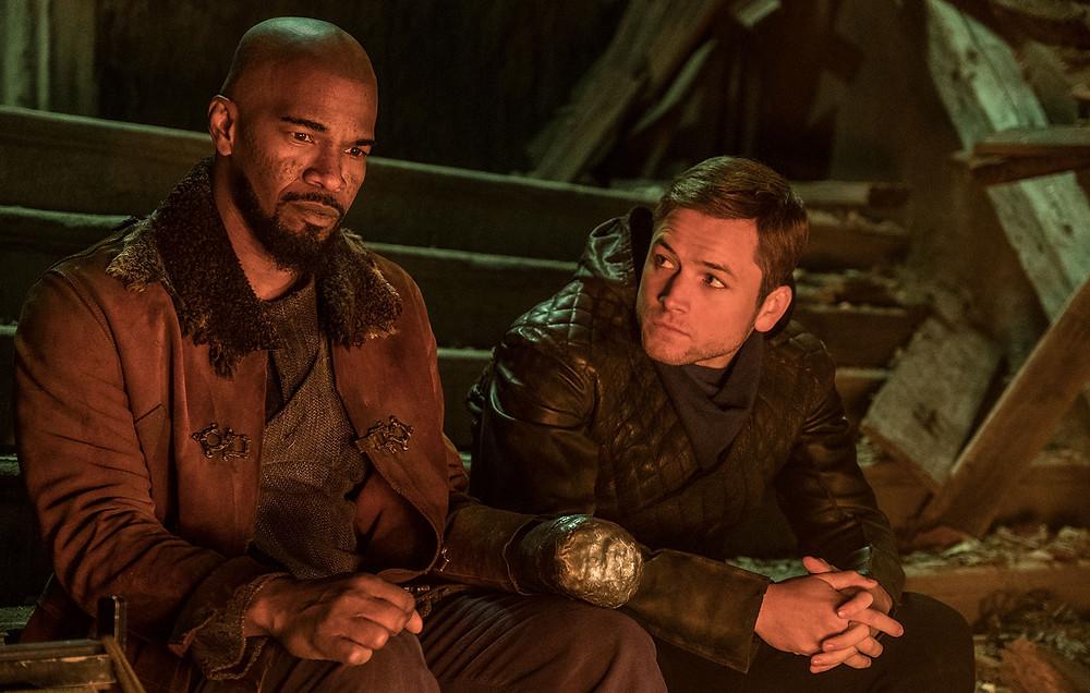 Taron Egerton and Jamie Foxx as Robin Hood and Little John respectively (Credit: Lionsgate).