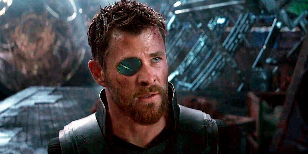 Hemsworth as Thor in The Avengers film franchise (Credit: Marvel).