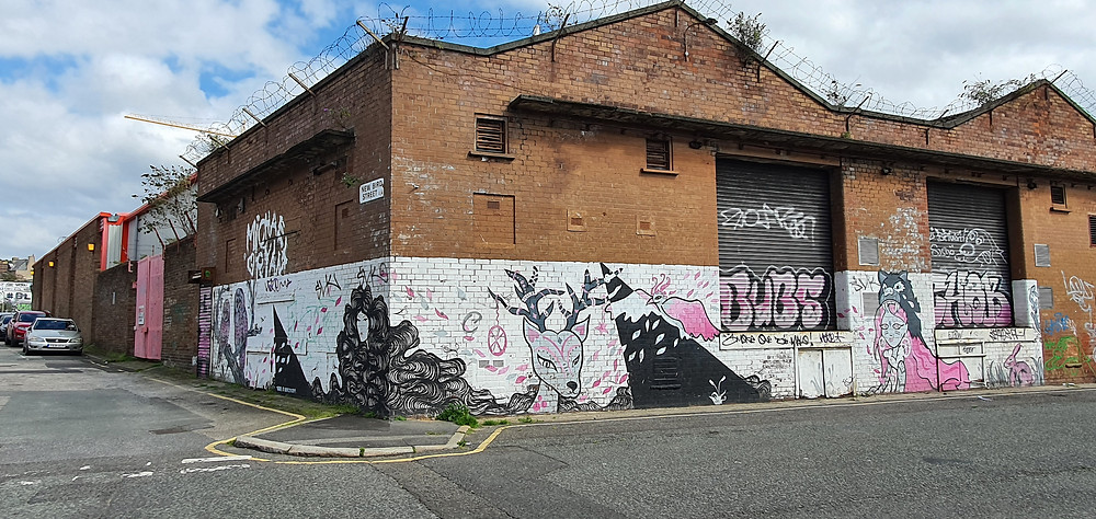 Street Art on New Bird Street in The Baltic Triangle, Liverpool City Centre (Credit: Peter Eric Lang/ Nonconform).