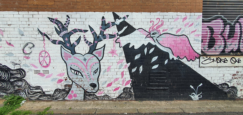 Street Art by Nonconform on New Bird Street in The Baltic Triangle, Liverpool City Centre (Credit: Peter Eric Lang).