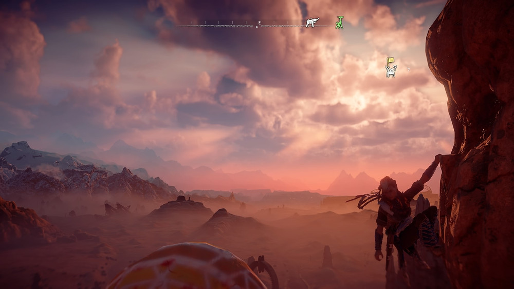 Aloy in the expansive, seemingly never-ending, open world that is Horizon: Zero Dawn (Credit: Sony Interactive Entertainment).