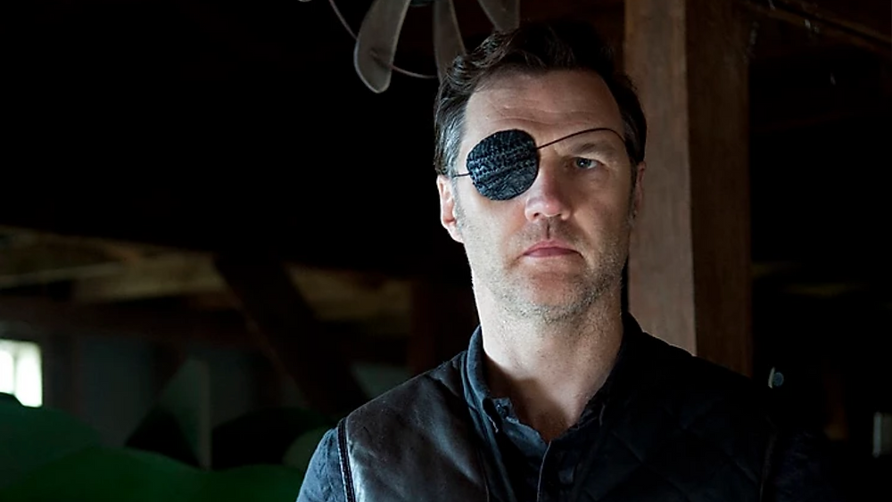 David Morrissey starring in AMC's The Walking Dead as the formidable Philip Blake, AKA The Governor (Credit: AMC).