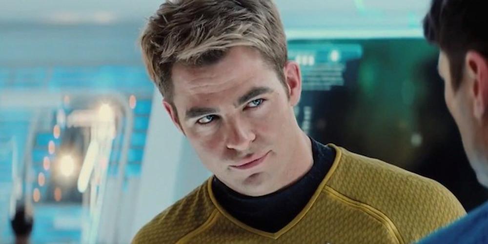 Chris Pine as Captain Kirk in the Star Trek film franchise (Spyglass Entertainment).