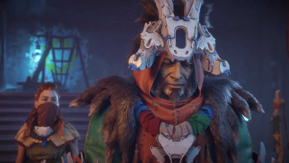 Horizon: Zero Dawn's engaging characters interacting in a fantastic story driven game (Credit: Sony Interactive Entertainment).