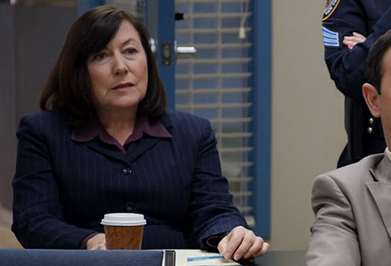 Detective Daniels in the staff briefing room of the 99th Precinct, never to be seen again! (Credit: NBC).